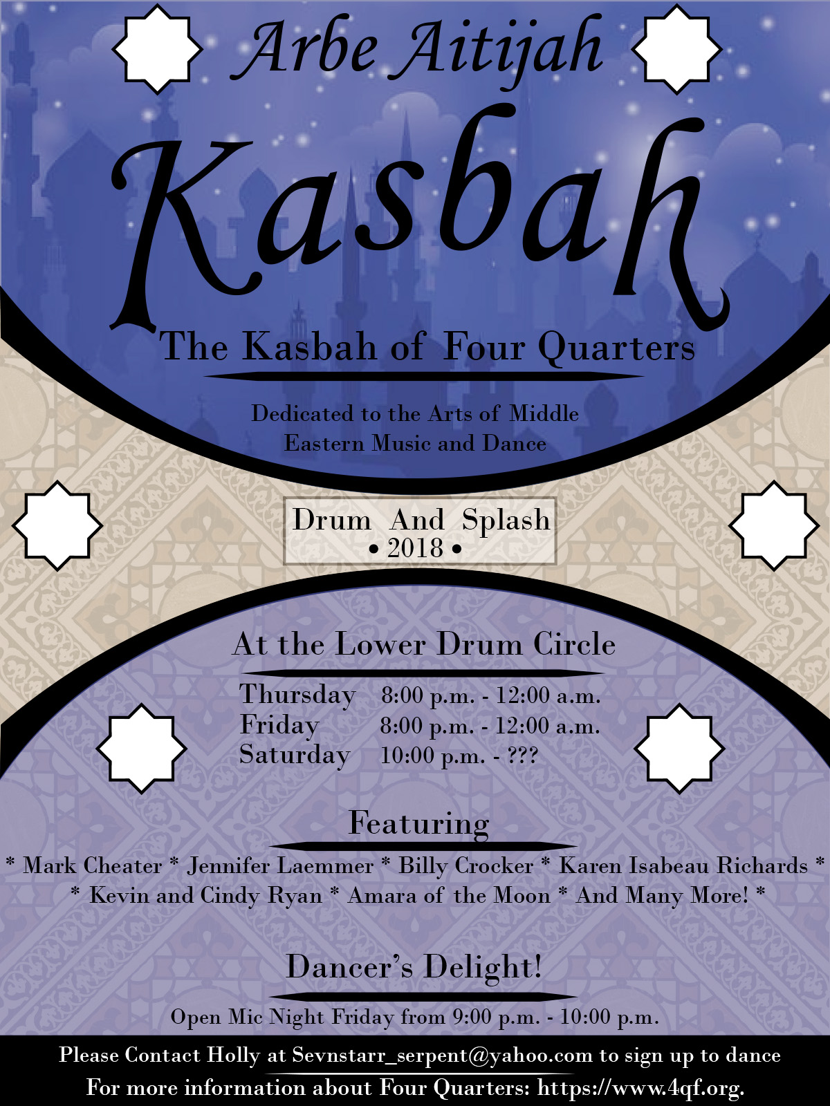 Drum & Splash 2018 - The Kasbah promo flyer