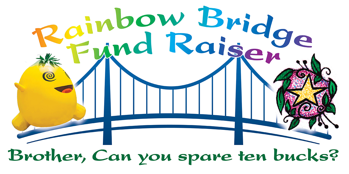 Rainbow Bridge Fundraiser Banner Art